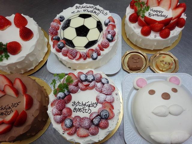 すみっこぐらしの白くま&ねこ&とんかつ&サッカーボールのケーキ♡