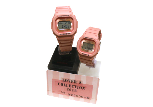 腕時計 G-SHOCK+BABY-G LOVER'S COLLECTION 2018